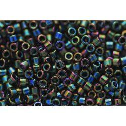 Delica gyöngy 11/0, DB0003, irizáló zöld, 4g