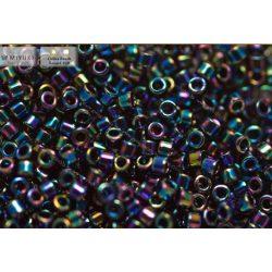 Delica gyöngy 11/0, DB0005, irizáló középkék, 4g
