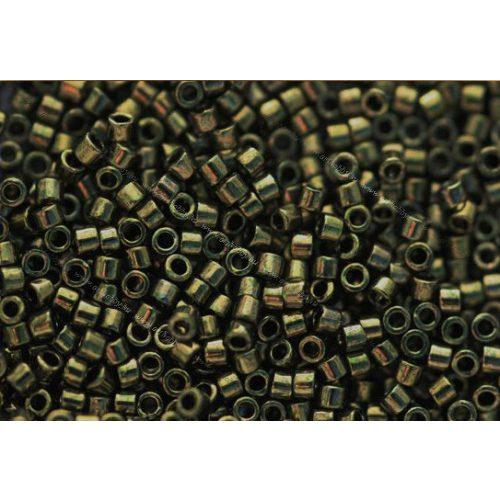 Delica gyöngy 11/0, DB0011, metál olíva, 4g