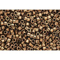 Delica gyöngy 11/0, DB0022, metál bronz, 4g