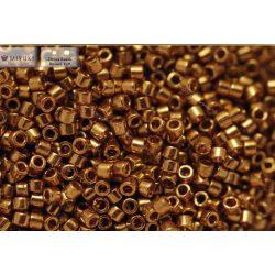 Delica gyöngy 11/0, DB0022L, világos bronz, 4g