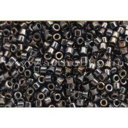 Delica gyöngy 11/0, DB0026, metál sötét acélszürke, 4g