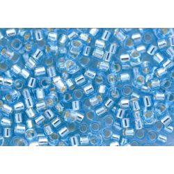 Delica gyöngy 11/0, DB0044, ezüst közepű világoskék, 4g