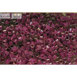 Delica gyöngy 11/0, DB0073, festett közepű, lilaakác AB, 4g