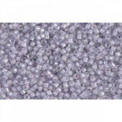 Delica gyöngy 11/0, DB0080, festett közepű sápadt levendula AB, 4g