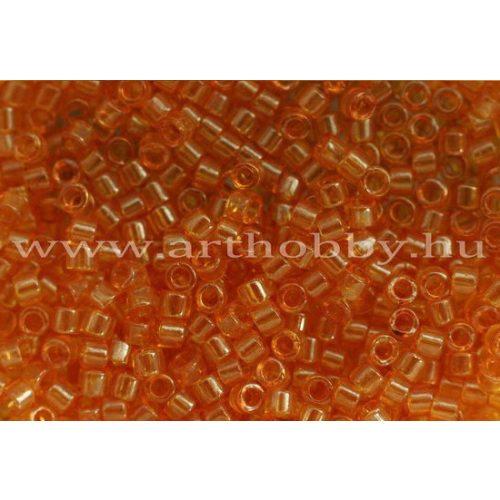 Delica gyöngy 11/0, DB0119, átlátszó fényes mézszín, 4g