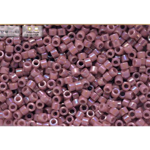 Delica gyöngy 11/0, DB0158, telt lila AB, 4g