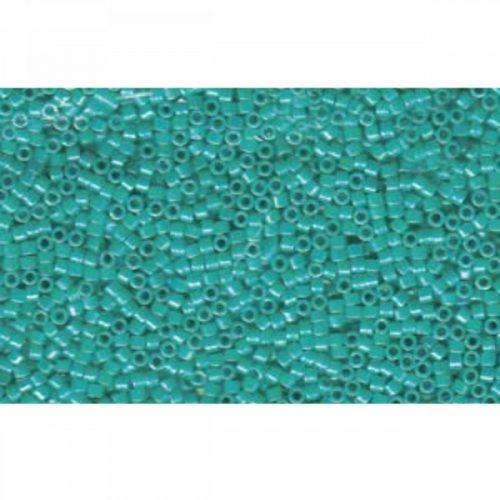 Delica gyöngy 11/0, DB0166, telt türkiz AB, 4g
