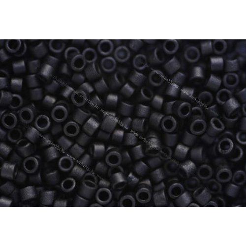 Delica gyöngy 11/0, DB0310, matt fekete, 4g