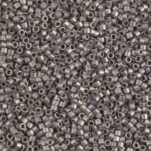 Delica gyöngy 11/0, DB0321, matt ezüst, 4g
