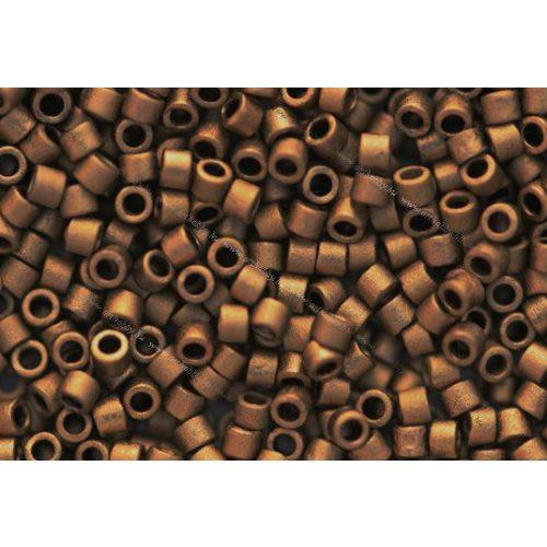 Delica gyöngy 11/0, DB0322, matt metál arany, 4g
