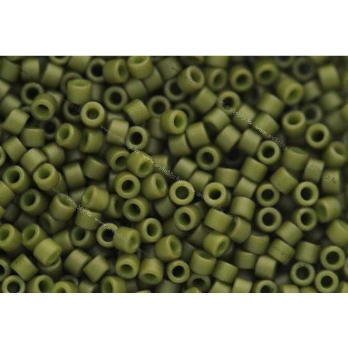 Delica gyöngy 11/0, DB0391, matt telt olíva zöld, 4g