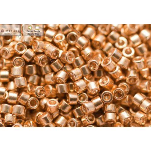 Delica gyöngy 11/0, DB0410, arany színű, 4g