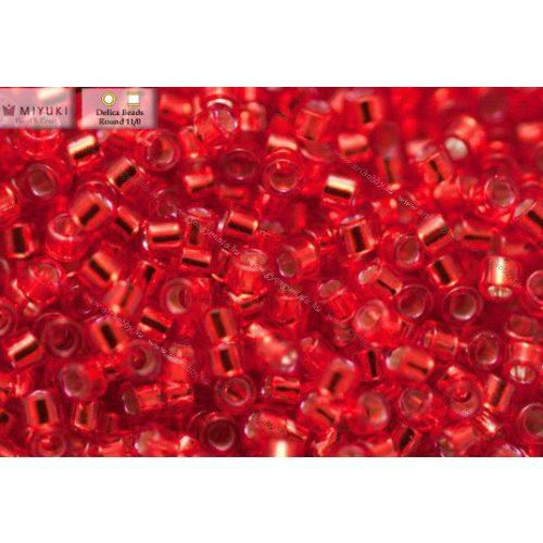 Delica gyöngy 11/0, DB0602, ek.piros, 4g