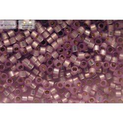 Delica gyöngy 11/0, DB0629, ezüst közepű alabástrom-levendula, 4g