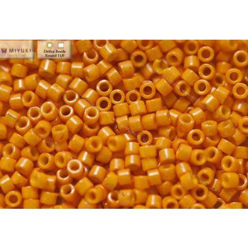 Delica gyöngy 11/0, DB0651, festett telt sütőtök , 4g
