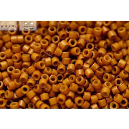 Delica gyöngy 11/0, DB0653, festett telt sült sütőtök, 4g