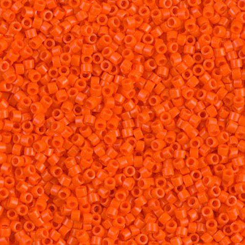Delica gyöngy 11/0, DB0722, telt narancs, 4g