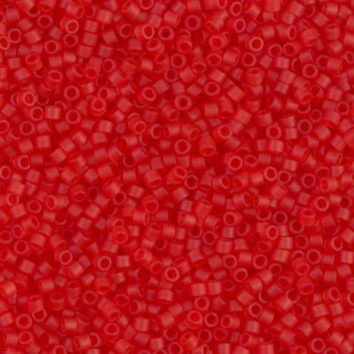 Delica gyöngy 11/0, DB0745, matt átl., világos piros, 4g