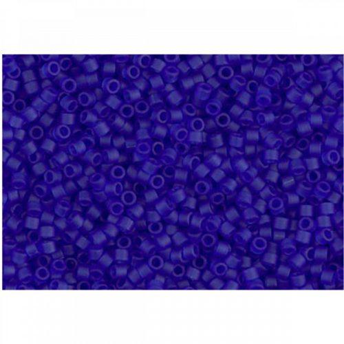 Delica gyöngy 11/0, DB0748, matt átlátszó kék, 4g
