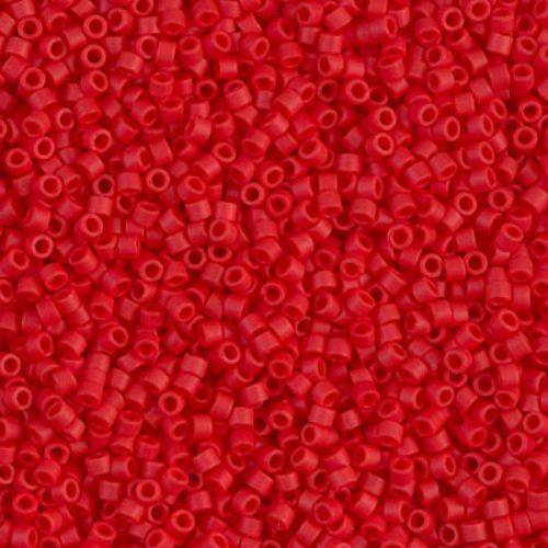 Delica gyöngy 11/0, DB0753, telt sötét piros, 4g