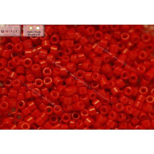 Delica gyöngy 11/0, DB0791, telt piros, 4g