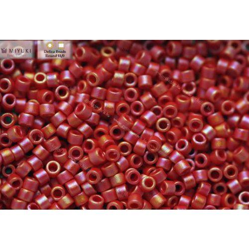 Delica gyöngy 11/0, DB0874, telt matt vörös AB, 4g
