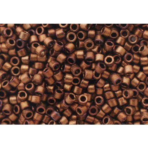 Delica gyöngy 11/0, DB1051, matt bronz / arany irizáló, 4g