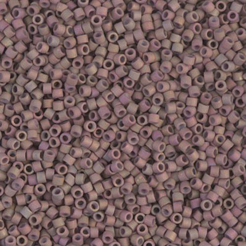 Delica gyöngy 11/0, DB1061, matt metál sötét agyag AB, 4g