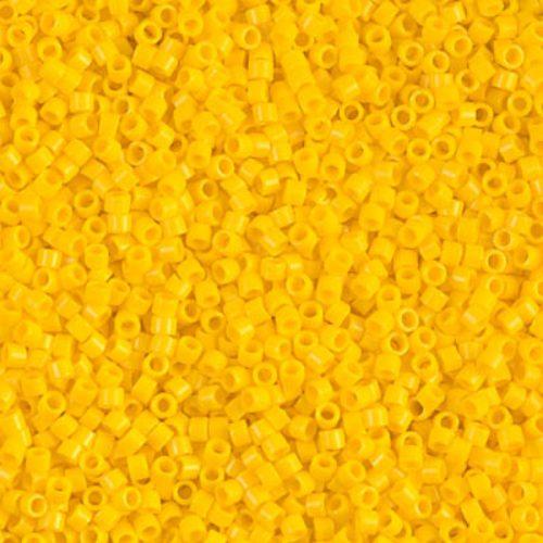 Delica gyöngy 11/0, DB1132, telt kanári sárga, 4g
