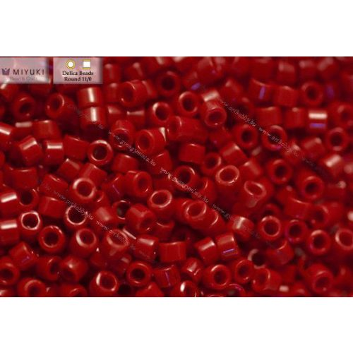 Delica gyöngy 11/0, DB1134, telt ribizli vörös, 4g