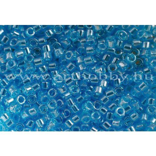 Delica gyöngy 11/0, DB1229, átlátszó fényes óceán kék, 4g