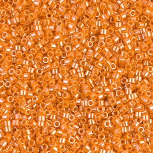 Delica gyöngy 11/0, DB1563, telt lüszteres mandarin, 4g