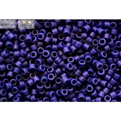 Delica gyöngy 11/0, DB1588, matt telt cián kék, 4g