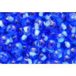 Drop gyöngy, matt közepű világos kék, 5g
