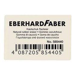 Eberhard-Faber kaucsuk radír fehér, kicsi grafithoz
