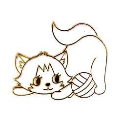 Fényvarázsforma, cica labdával-arany színű