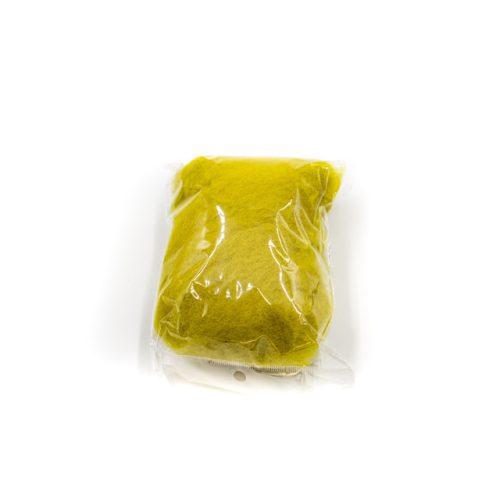 Gyapjú, kártolt 20g - sárga