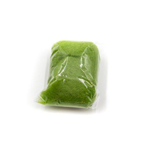 Gyapjú, kártolt 20g - zöld