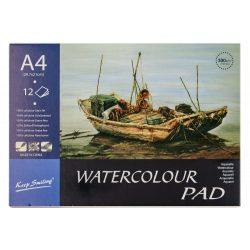 Akvarell tömb A4 méret, 300g/m² - 100%cellulóz, hidegen préselt papír