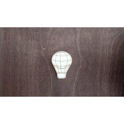 Fa figura - Hőlégballon, lézervágott, 45x60x4 mm