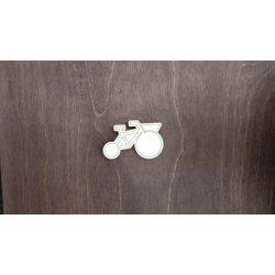 Fa figura - Tricikli, lézervágott, 60x39x4 mm