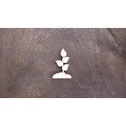 Fa figura - Növény földhalomban, lézervágott, 38x60x4 mm