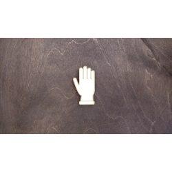 Fa figura - Kesztyű, lézervágott, 34x60x4 mm