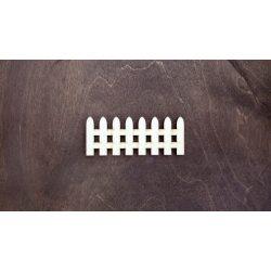Fa figura - Kerítés, lézervágott, 100x40x4 mm