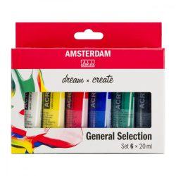 Talens Amsterdam akrilfesték készlet 6x20ml