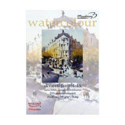 Akvarell festőblokk natúr, savmentes festőkarton 21x30cm, 200g/m² - 18lap