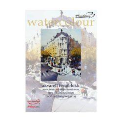Akvarell festőblokk natúr, savmentes festőkarton 21x30cm, 200g/m² - 36lap
