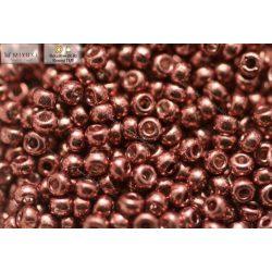 Japán kásagyöngy Miyuki 11/0, galvanizált rose-gold, 10g