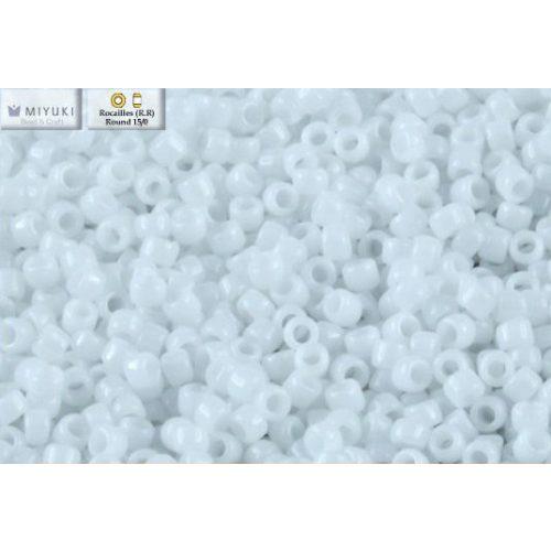Japán kásagyöngy Miyuki 15/0, telt fehér